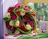 Wreath with Amaranthus