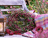Wreath from Calluna and Buxus
