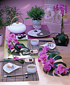 Asian table decoration: Phalaenopsis