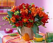 Tulipa (red and orange tulip)