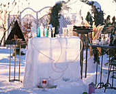 Ice bar with rope light and ice wind lights