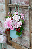 Nostalgic bouquet with pink (rose), astrantia (star-throated)