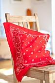 Cushion cover made from bandana