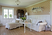 Classic, Gustavian-style living room