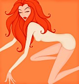 Beautiful woman prowling posing as astrology sign Leo