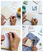 Anleitung für Bilderrahmen aus bemalten Sperrholzplatten