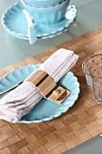 Serviettenhalten und Tischset aus Furnierholz selbstgemacht