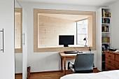 Study area in bedroom