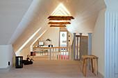 Open-plan attic interior