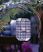 Oriental lantern made from capiz shells