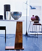Various pieces of furniture and accessories arranged artistically