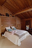 Attic bedroom in chalet
