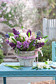 Lush Hyacinthus orientalis (hyacinth) bouquet