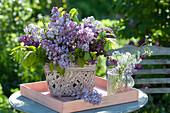 Fragrance from Syringa vulgaris 'Katherine Havemeyer' (lilac)