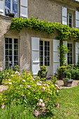 French country house with garden (detail)