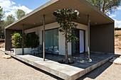 Cubist apartment module with veranda