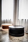 Black and bright coffee tables