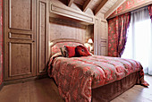 Opulent bedroom with fitted wardrobes