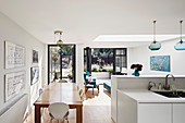 Bright open-plan interior with access to terrace