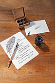 Invitation to Easter breakfast written with ink pen