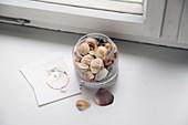 A jar of shells