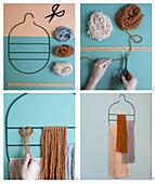 Anleitung für eine Wanddeko aus Wollfäden