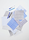 Squares of checked paper