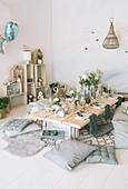 Indoor-Picknick im Skandinavischen Stil