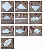 Anleitung für eine Serviettenfalttechnik