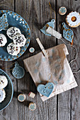 Gluten-free coconut macaroons and Christmas decorations