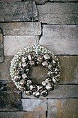 Christmas wreaths of jingle bells