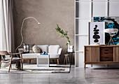 Wabi Sabi style living room