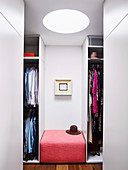 Glance into walk-in closet