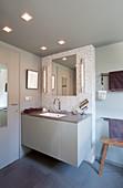 Elegant bathroom in shades of grey