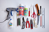 Various craft utensils and materials