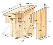 Instructions for making nesting box