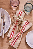 DIY linen napkins