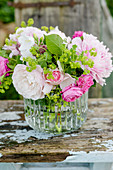 Bouquet Of Roses And Lady's Mantle