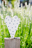 Wooden Heart As Decoration In The Garden