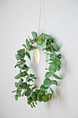 Simple wreath of eucalyptus branches