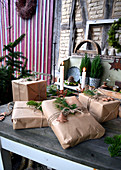 Naturally Packed Christmas Presents