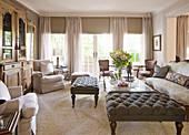 Classic living room in beige