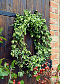 Hop Wreath At The Barn Door