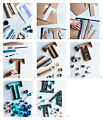 Instructions for making a word in handcrafted decorative letters