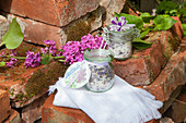 Handmade lilac bathsalts