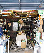 Handicraft workshop in a garage