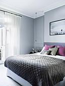 Elegant gray bedroom