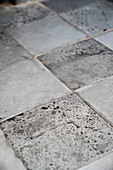 Grey stone floor flags (detail)