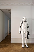 Stormtrooper figure in period apartment