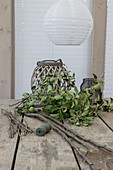 Branches and leafy twigs - materials for making wall hanging from green cuttings
